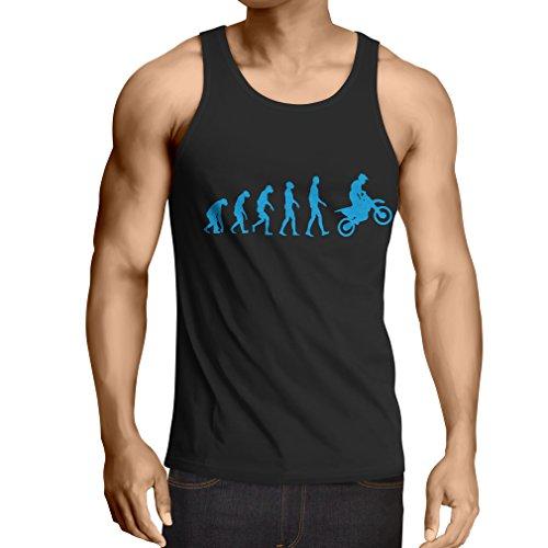 lepni.me Camisetas de Tirantes para Hombre evolución del Motocross, Camisa de la...