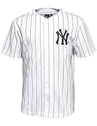 Majestic - Maillot de Baseball Retro New York Yankees Blanc Majestic replica