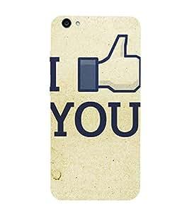 Love you Printed Back Cover for Vivo V5
