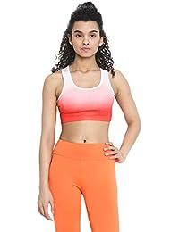 470689ea0e135 CHKOKKO Sports Gym Running Racer Back Non Wired Padded Sports Bra for Women