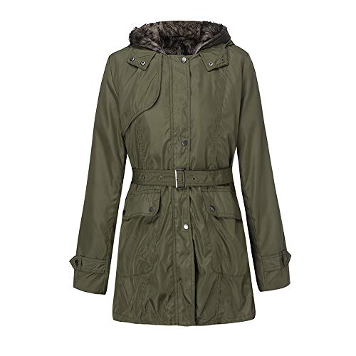Frauen Mit Kapuze Pullover Mantel Winter Warme Wolle Reißverschluss Mantel Baumwollmantel Outwear (Pea-mantel Für Frauen Mit Kapuze)