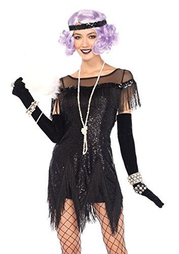 Leg Avenue 85568 - Roaring Foxtrot, Damen Fasching, 20er set, S, (40's Roaring Kostüme)