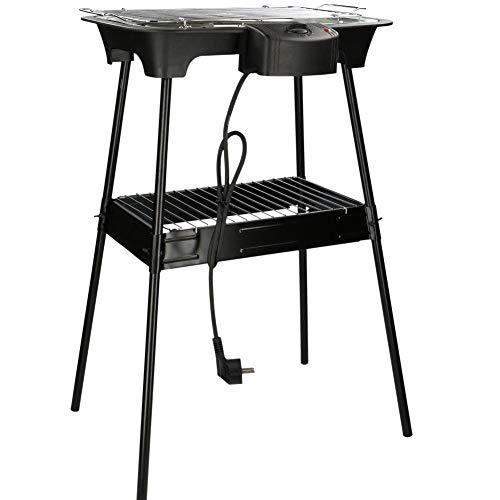 Barbecue elettrico Cuisinier Deluxe 2000W, con Stand Game di sostegno e sistema di regolazione temperatura. 220-240V - 50Hz