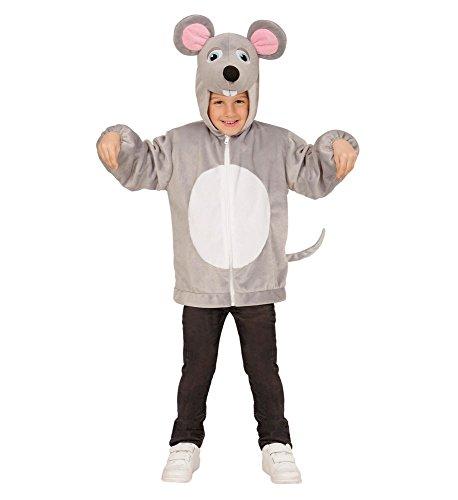 shoperama Maus Kinder-Kostüm Kapuzen-Jacke Hoody Soft Plüsch Kleinkind Tier-Kostüm Bauernhof Mädchen Junge, Größe:98