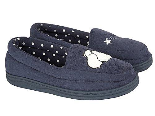 ladies-star-gazing-jo-joe-faux-suede-polar-bear-slip-on-warm-comfort-moccasin-slippers-shoes-size-3-