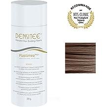 Densitee MUJER - 28g - Polvos para el cabello - Polvo densificante revolucionario para Hombre - Microfibras de Queratina - Efecto Volumen - Cubre las Calvicies y enmascara las canas - Marron Medio