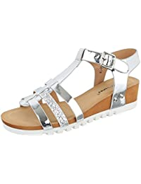 Keilsandaletten Damen Schuhe Plateau Keilabsatz/ Wedge Keilabsatz Schnalle Ital-Design Sandalen / Sandaletten