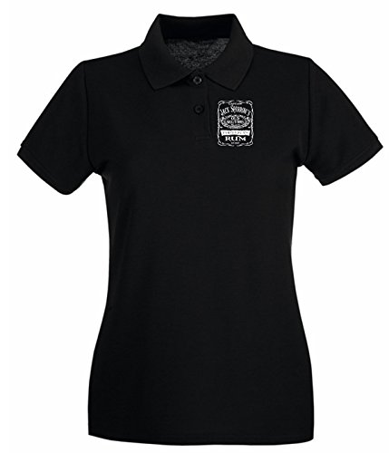 Cotton Island - Polo pour femme TR0080 Jack Sparrow Rum T-Shirt Noir
