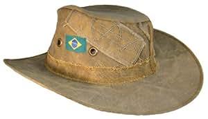 """Amazonas, réel chapeau en toile brésilien -Moyen - 22 """"7-Chapeau de marche- Chapeau pour la pêche – Chapeau de ski- Chapeau de randonnée et chapeau de camping"""