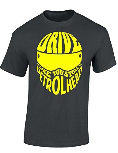 Motorrad T-Shirt: Drive It Like You Stole It - Auto Shirt - Geschenk für Autoliebhaber - T-Shirt für alle Tuning-, Drift-, und Motorsport Fans - T-Shirt Biker - Geschenk für Motorradfahrer (L)