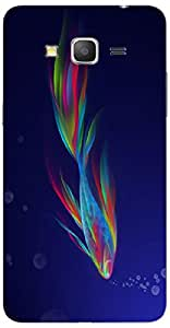 Timpax Protective Armour Case Cover. Multicolour Printed Design : Fish in flames.100% Compatible with Samsung Galaxy Grand 2 Duos ( SM-G7106 )