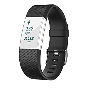 NEO+ UK SELLER ! Fitbit Charge 2 Band, TPU Soft Silicone Adjustable Replacement Sport Strap Band for Fitbit Charge 2 Smartwatch Heart Rate Fitness Wristband