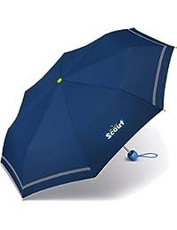 Scout Kinder Regenschirm Taschenschirm Schultaschenschirm mit Reflektorstreifen extra leicht