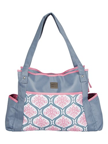 Mee Mee Baby Nursery Diaper Handbag for Moms (With Changing Mat, Grey w/Pink lining)