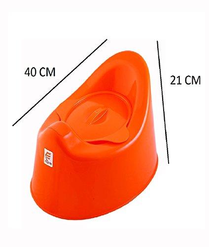 NOVICZ Baby Toddler Potty seat Kids Toilet training potty Chair Orange Color