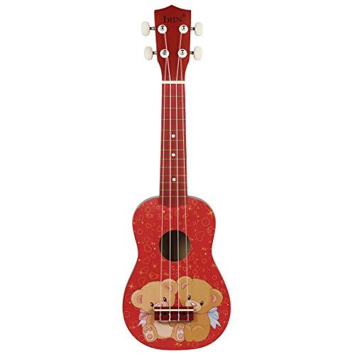 Eukalyptus-bar (Xinzhi Holz Farbe Ukulele, Akustische Gitarre Niedlichen Bären Kind Spielzeug Gitarre Eukalyptus 4 String Kinder Gitarre Geeignet Für Saiteninstrumentenunterricht)