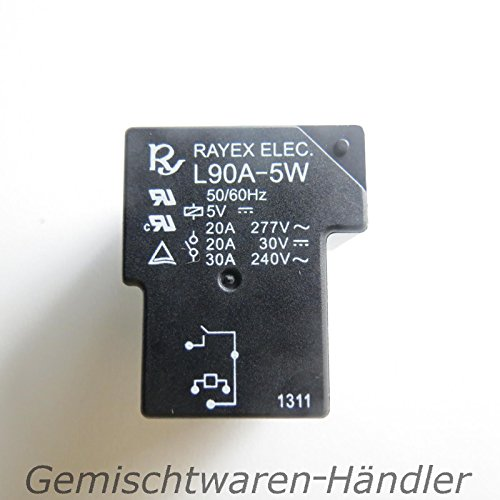 Unbekannt Relais 5V Steuerspannung 230V 30A Leistungsrelais 30V 20A Ampere Volt L90A-5W -