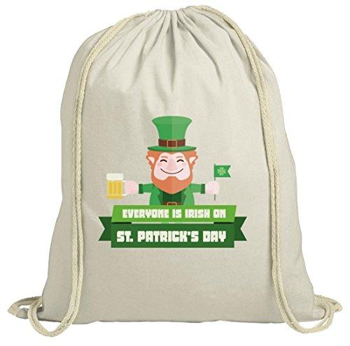 Saint Patrick's Day St. Patricks Day natur Rucksack Turnbeutel mit Everyone Is Irish...Motiv Natur