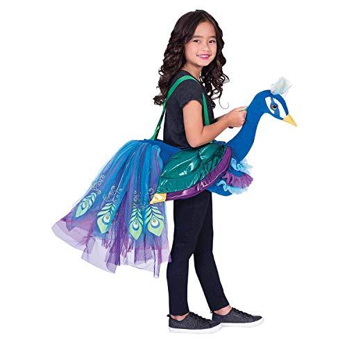 41353ec819 amscan RPE - Costume da pavone da equitazione, unisex, per bambini,  multicolore,