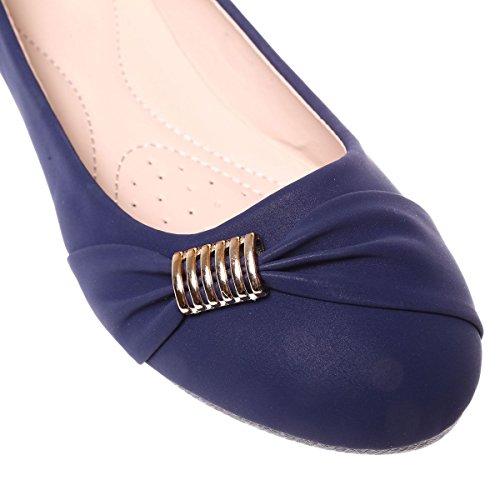 Nabuk Blu Ballerine La Fashionista Aspetto 6wqaUn4F