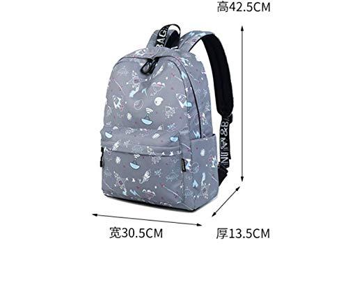 7feccfdfae69b Cucsaistat Tasche Schultertasche Wilde Einfache Student Tasche Große  Kapazität Leinwand Rucksack Reisetasche