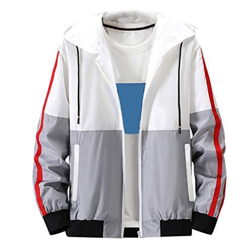 Dwevkeful Kapuzenpullover Herren Blusen Sweatshirt Tops Pullover Farbe Hoodie Kollision Patchwork Thin Outwear Coat Herbst Mode Kapuze -