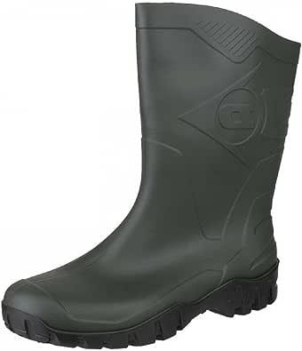 Dunlop DEE Half Length Black Wellingtons Size