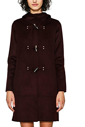 edc by ESPRIT 087cc1g021, Manteau Femme, Rouge (Bordeaux Red 600), Small