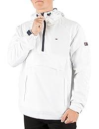 Tommy Hilfiger Denim Homme Pullover Cagoule Jacket, Blanc