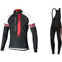 Uglyfrog Bike Wear Vestiti Ciclismo Magliette Jersey+Long Bib Pantaloni Tight Body Sets Uomo Winter Fleece Mountain Bike Manica Corta Camicia Top 02