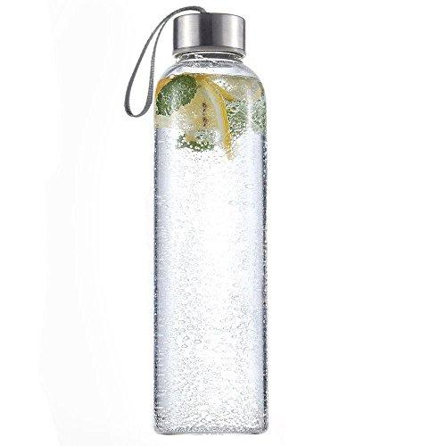Bebida de cristal 500ml Deporte botella de agua con transporte Loop