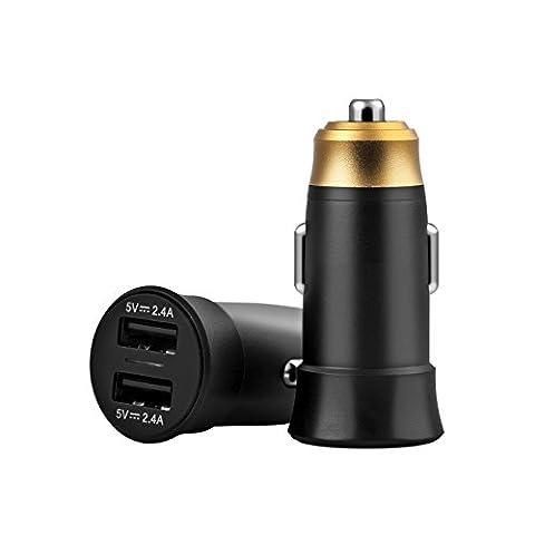 Suntapower Dual USB Adaptateur de voiture, iSmart chargement, protection de sécurité intégrée pour iPhone 7/6S Plus/5S, iPad Air/mini, Galaxy S7/S6Edge et plus