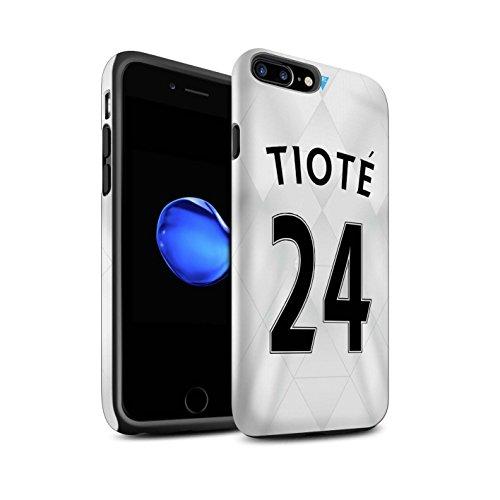 Offiziell Newcastle United FC Hülle / Matte Harten Stoßfest Case für Apple iPhone 7 Plus / Tioté Muster / NUFC Trikot Away 15/16 Kollektion Tioté