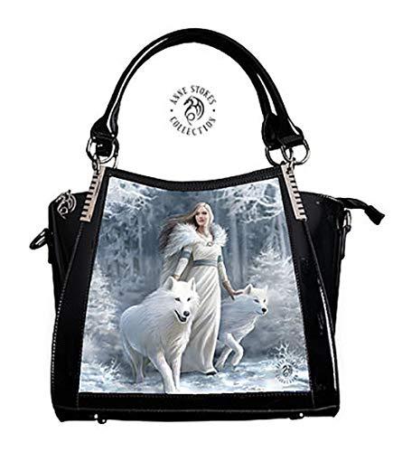 Anne Stokes Handbag Winter Guardians Wolf Fairy 3D Black Fantasy Lenticular Bag