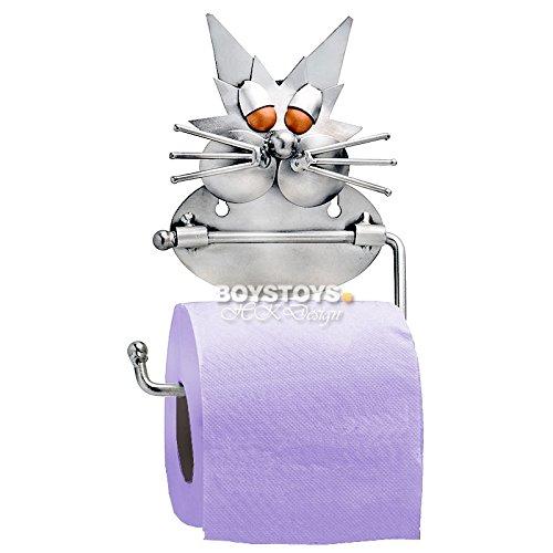 Metall-ART Design Katze Toilettenpapierhalter