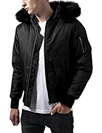 Urban Classics Hooded Basic Bomber Jacket, Blouson Homme