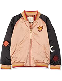 Scotch & Soda Padded Bomber Jacket with Colour Block & Placed Artworks, Giacca Bambina