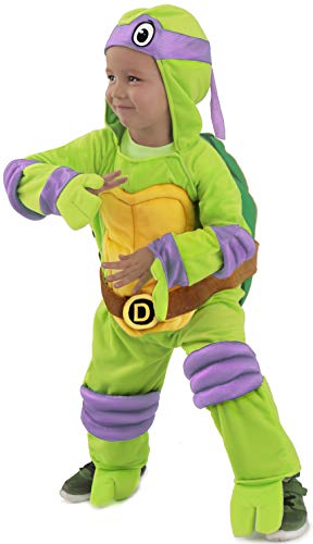 Jones Casey Kostüm Kinder - TMNT Teenage Mutant Ninja Turtles Donatello One-Piece Jumpsuit (Kind Small)
