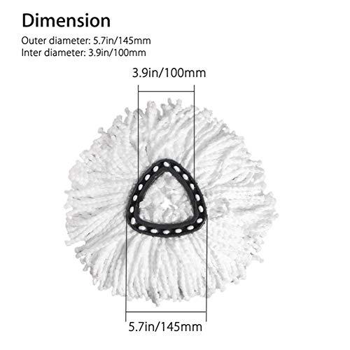 Bebliss 360 Rotating Wheels Microfaser Mopp Einfache Reinigung Mopping Wring Refill Ersatzköpfe