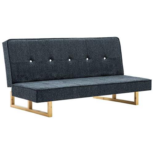 Tidyard- Sofá Cama Reclinable Lounge de Tela Respaldo Ajustable con 3 Configuraciones...