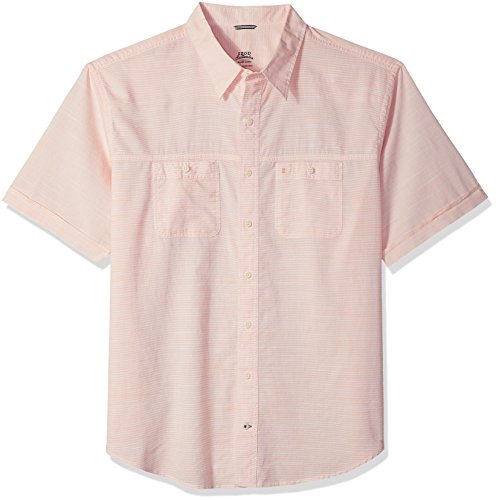 IZOD Men's Big and Tall Saltwater Dockside Chambray Solid Button Down Shirt