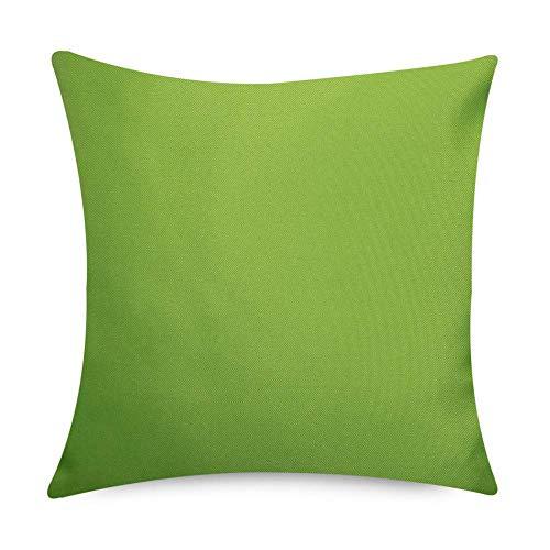 Bean Bag Bazaar Gartenkissen, 2er Pack, Hellgrün, 43cm x 43cm, Kissen Wasserabweisend, Textilfaserfüllung–, Dekoratives Zierkissen für Gartenbänke, Stühle oder Sofas