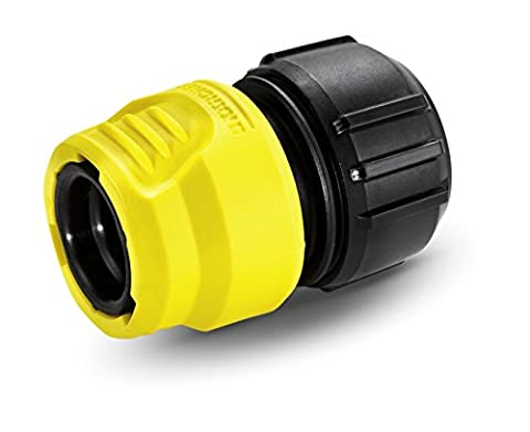 Karcher 2.645-192.0 6.5 x 3.3 x 4.5 cm Universal Hose Connector with Aqua Stop - Yellow/Black