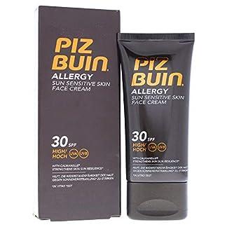 Piz Buin – Protección Solar, Crema Facial Allergy SPF 30 – Protección alta Bote 50 ml