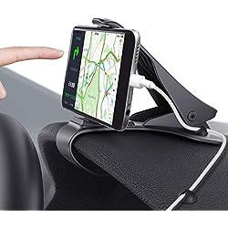 M.Way Support Voiture Auto, Support Téléphone Universel Portable Fixation Puissante pour iPhone 7 7 Plus 6 6s Plus, Nokia, Wiko, Huawei, HTC, Sony et d'Autre Smartphone Tablet GPS Moins de 6,5 pouces