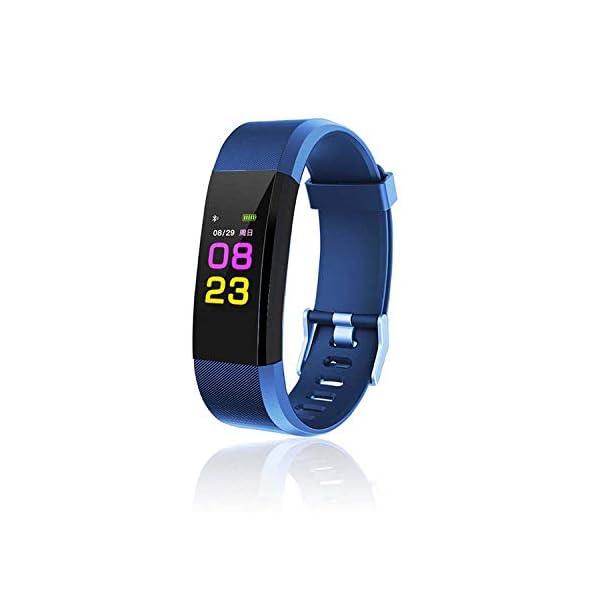 maju SmartFit Fitness Tracker Actividad banda Fitness pulsera corazón–Rastreador de fitness 1 m azul 1