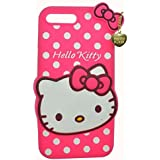 One Plus 3 3D Cute Cartoon Hello Kitty Soft Silicone Gel Back Cover Case For One Plus 3 (Hello Kitty Pink) BY MJ CREATION