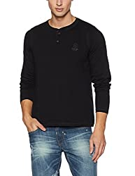 Proline Mens Solid Regular Fit T-Shirt (PC13801A_BK_Black_X-Large)
