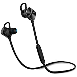 Mpow Wolverine - Auriculares Inalámbrico Deportivos con Micrófono Auriculares Bluetooth 4.1 In-Ear para Correr Earphones Wireless Bluetooth para MP3 iPod Móvil iPhone Huawei Samsung BQ Tablet, Negro