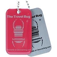 Geocaching QR Travel Bug® pink mit QR Code